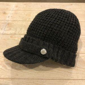 *Michael Kors Waffle Knit Brim Newsboy Beanie Hat